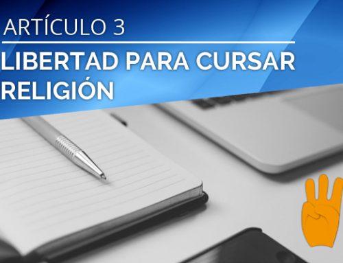 LIBERTAD PARA CURSAR RELIGIÓN