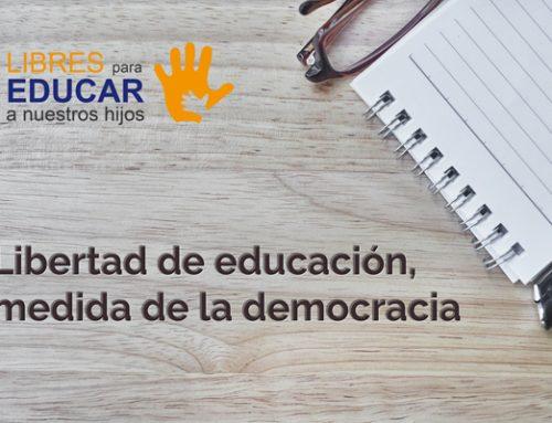 Libertad de educación, medida de la democracia