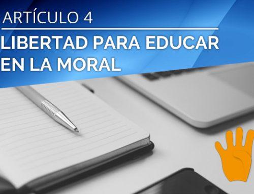 LIBERTAD PARA EDUCAR EN LA MORAL