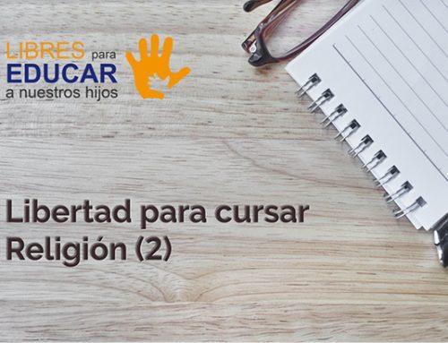 Libertad para cursar Religión (2)
